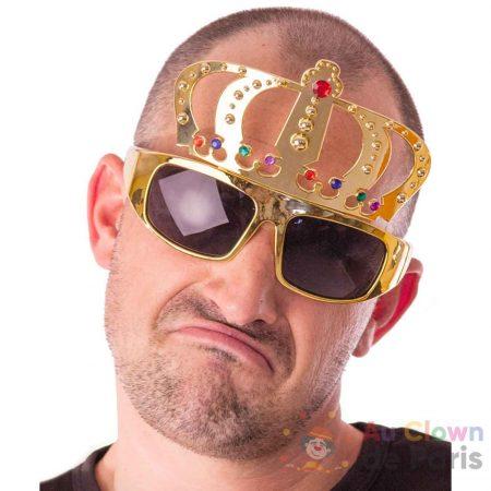 Lunette dorée couronne roi