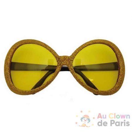 lunette disco paillettes