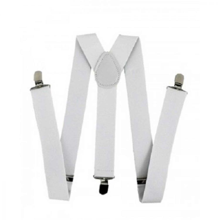 Bretelles blanc pour déguisement