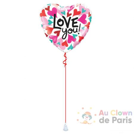 Ballon coeur Love you !