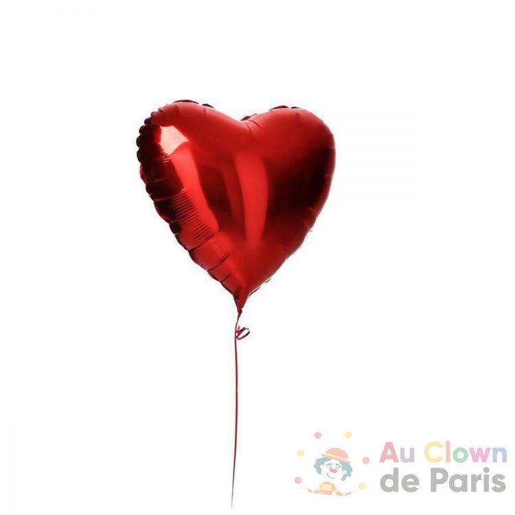 Ballon coeur rouge hélium