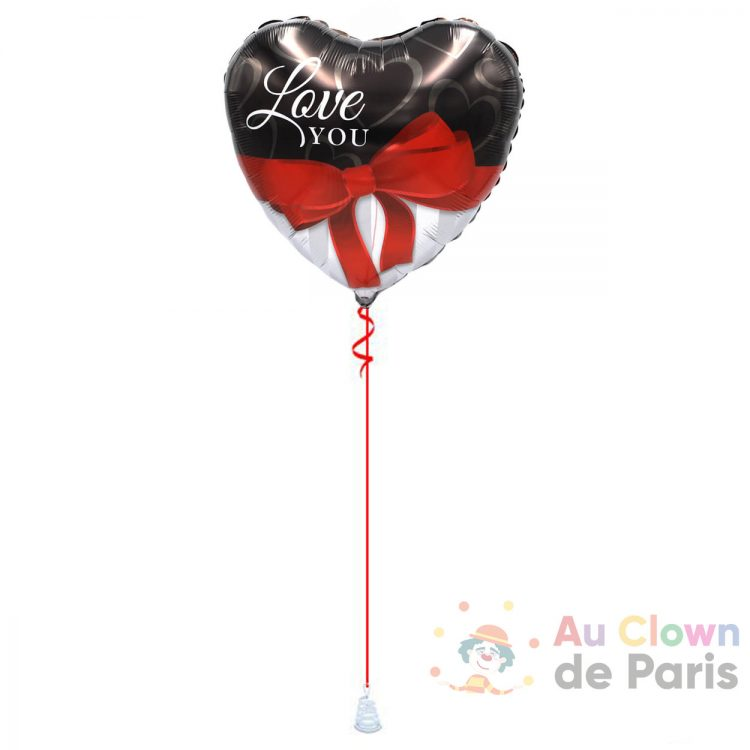Ballon coeur rubal Love You Hélium