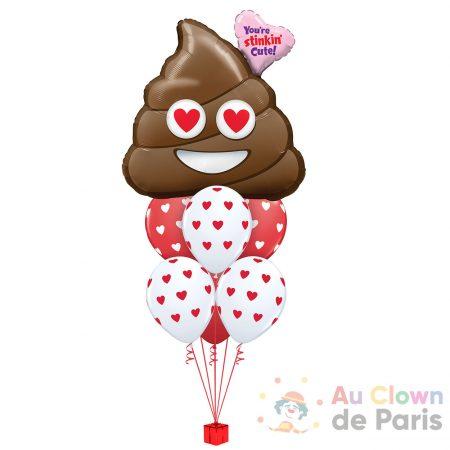 Ballon love Emoji crotte
