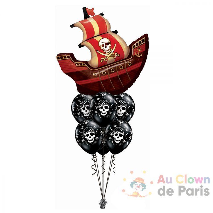 Bouquet de ballons géant hélium Pirate