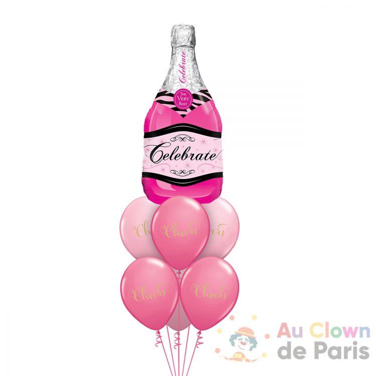 Bouquet de ballons anniversaire Champagne