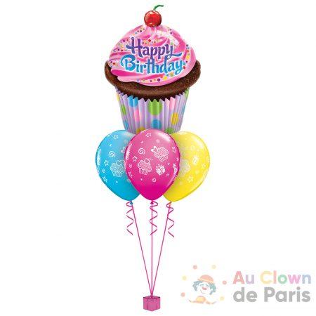 Bouquet de ballons anniversaire Cupcake