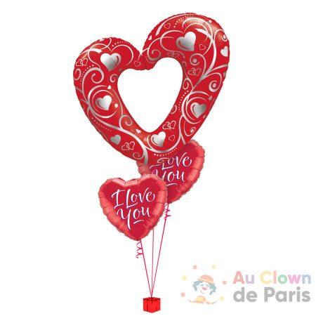 Bouquet de ballons Coeur géant
