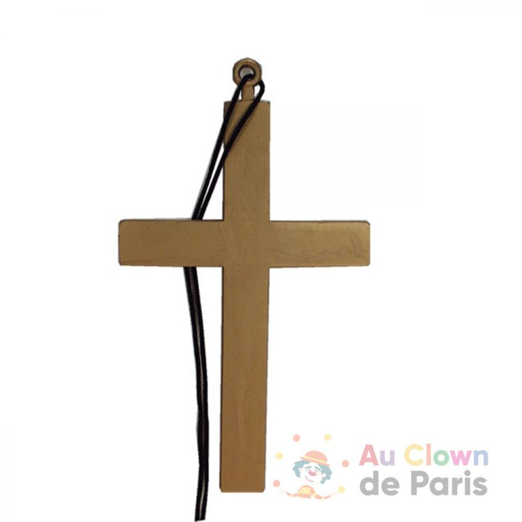 Croix plastique or
