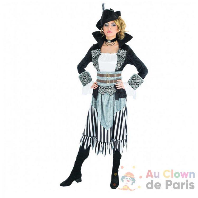 déguisement black pirate femme