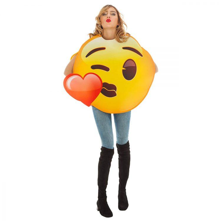 déguisement emoji bisous coeur