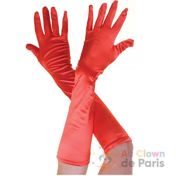 Gant long rouge 50cm