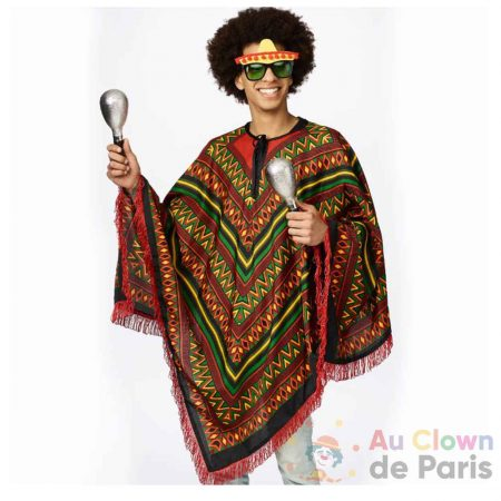 costume poncho mexicain