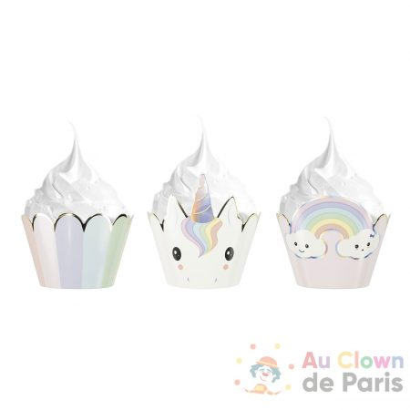 caissettes cupcakes bébé licorne