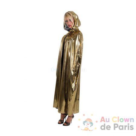 déguisement cape a capuche doré