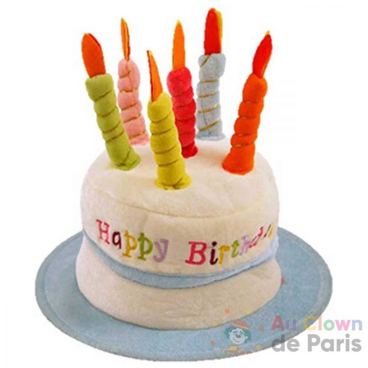 chapeau gateau happy birthday