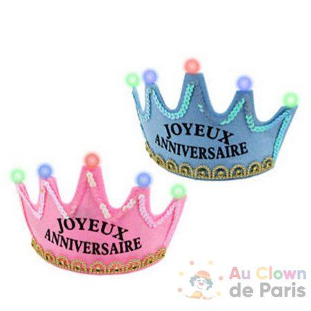 couronne lumineuse joyeux anniversaire