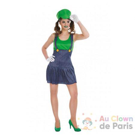 déguisement plombier vert