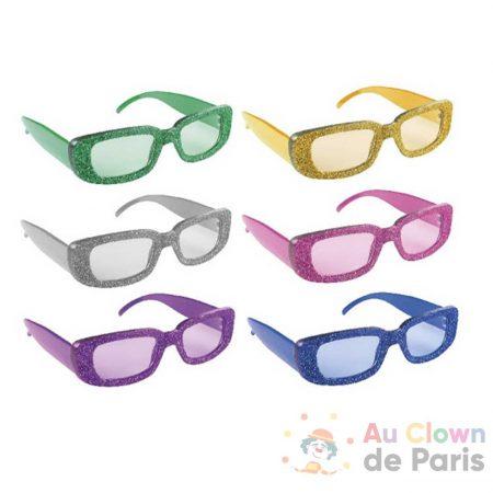 accessoires lunettes paillettes carrés
