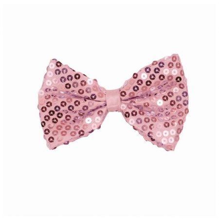noeud papillon sequin rose