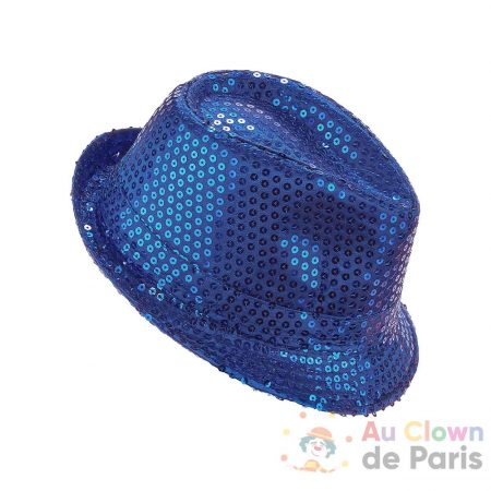 chapeau borsalino sequin bleu