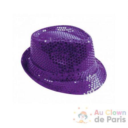 chapeau borsalino sequin violet