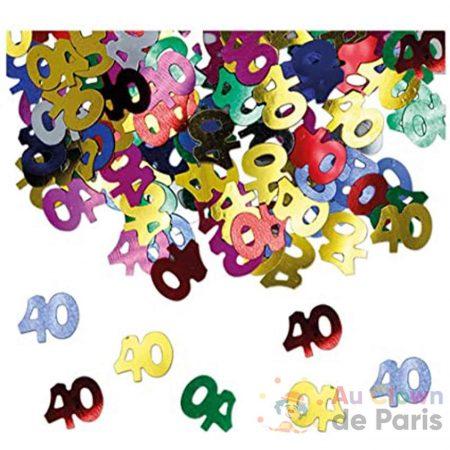 confetti table 40 multicolore