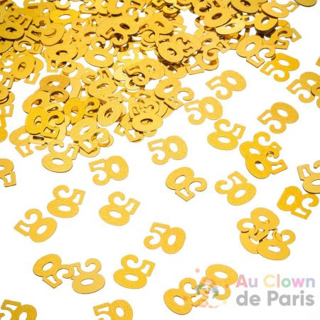 confetti 50 doré