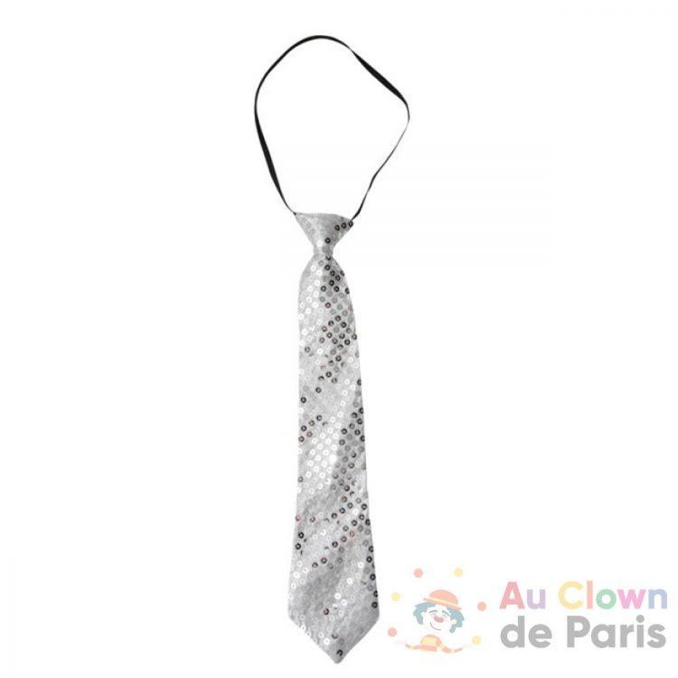 cravate argentée sequins