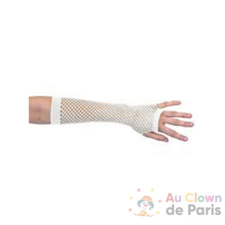 mitaines longues resille blanche