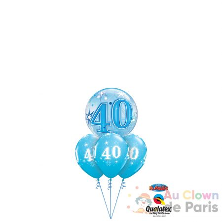 bouquet ballon 40 bleu