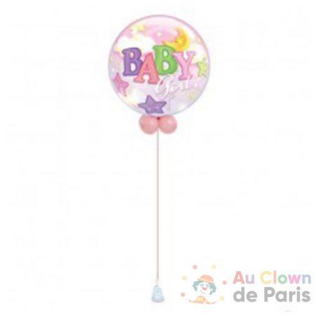 ballon bubble baby girl