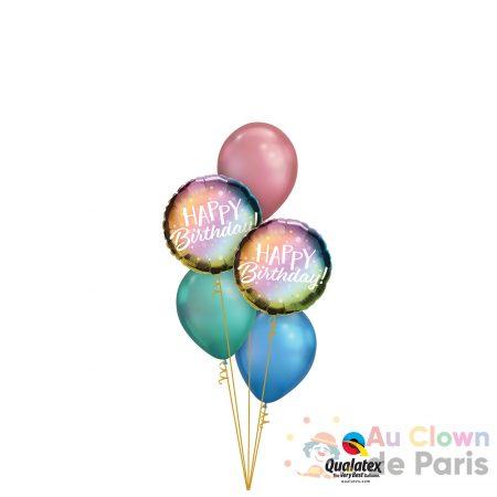ballon chrome happy birthday