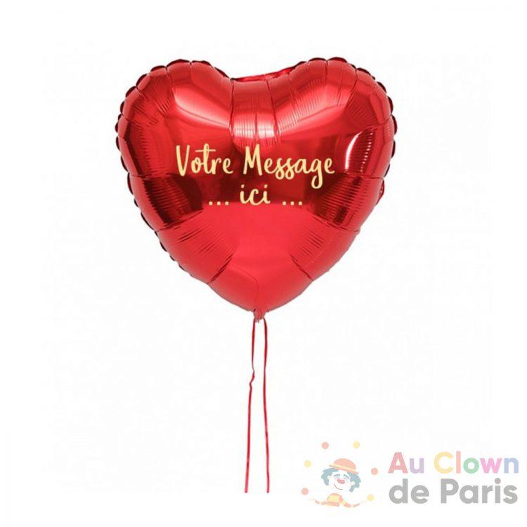 ballon coeur rouge personnalisé