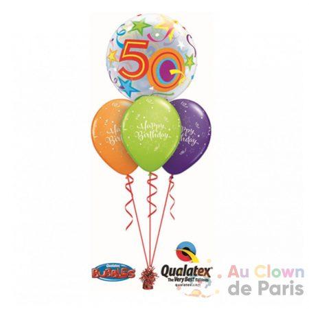 bouquet ballon anniversaire 50