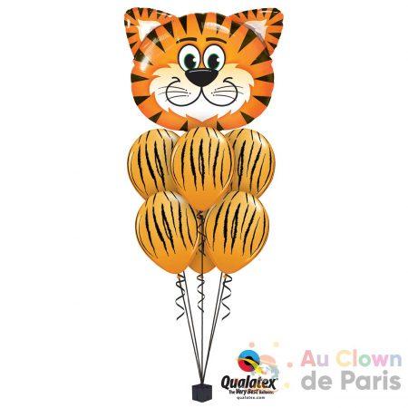 bouquet ballon tigre