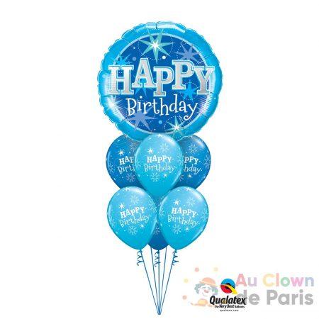 bouquet ballon happy birthday bleu