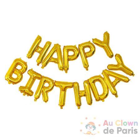ballon happy birtdhay air gold