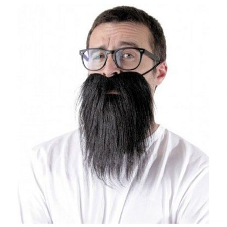 barbe hipster noire