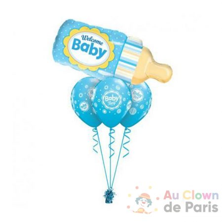 bouquet ballon welcome baby boy