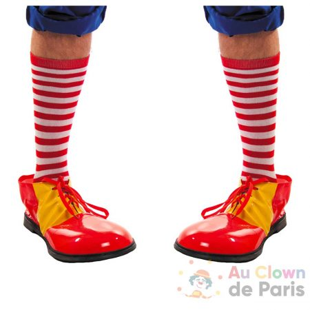 chaussette rayees rouge te blanche