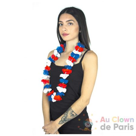 collier hawai tricolore