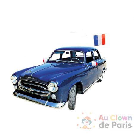 drapeau tricolore voiture