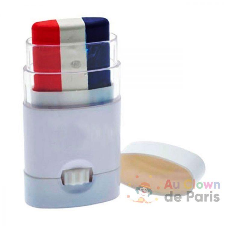 Maquillage stick bleu blanc rouge