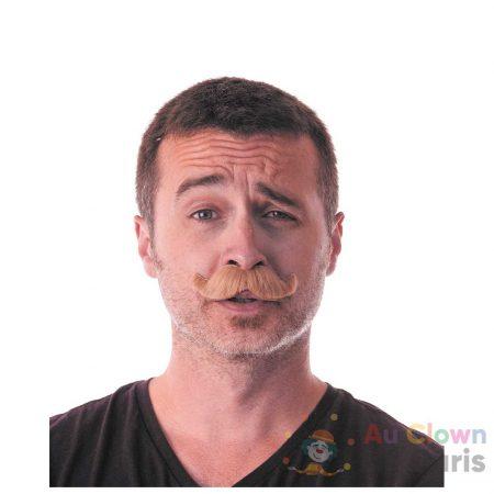 moustache classy marron
