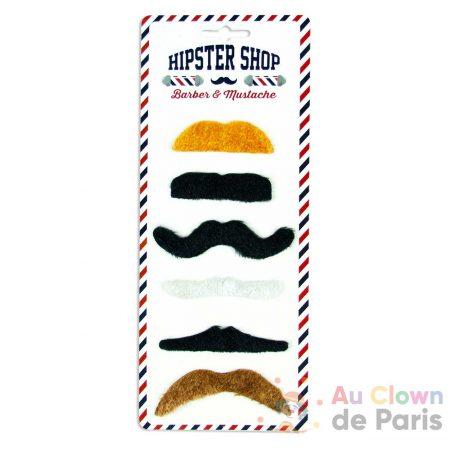 set 6 moustaches assortiment