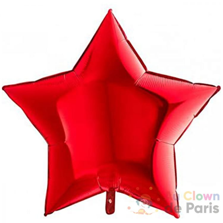 ballon alu étoile rouge