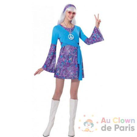déguisement hippie femme bleue
